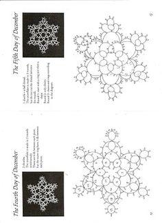 .Tatted star motifs