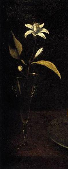 Francisco de Zurbarán - Still-Life with Plate of Apples and Orange Blossom c. 1640