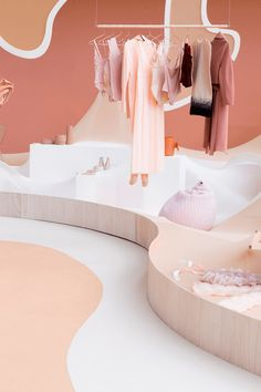 Modefabriek, Nude vs Naked, Floor Knaapen and Grietje Schepers / huskdesignblog | interior architecture | fashion store | clothing store | pink boutique | pink store | pink walls | colorful interior | colored store | colorful boutique | pink shades | pink pop up | pop up store | new flagship