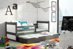 Kinder-Doppelbett Nico – Graphit mit 10 verschiedenen Dekorfarben und in 3 unterschiedlichen Größen Diese Kinderbetten unterscheiden sich von anderen in Kreativität, Schönheit... #kinder #kinderzimmer #kinderbett #doppelbett