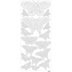 Peel offs - Fjäril Silver