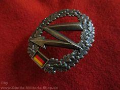 BW Barettabzeichen, Fernmelder, Metall / mehr Infos auf: www.Guntia-Militaria-Shop.de