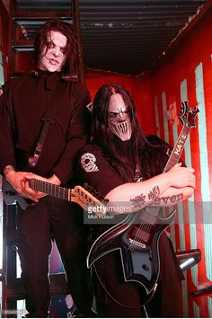 Photo of Mick THOMSON and Jim ROOT and SLIPKNOT; Posed portrait of Jim Root and…
