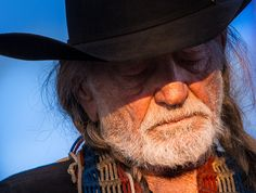 Willie Nelson, singer, songwriter, legend, country, folk, music, Trigger, acoustic, guitar, worn, wrinkled, old, cowboy, hat, mic, microphone, picks, braids, hair, red, beard, white, blue, sky