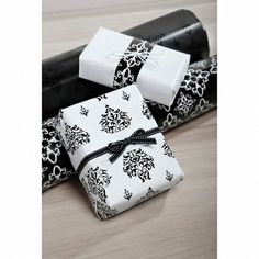 Stylish black and white wrapping