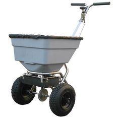 Handy Push Salt Spreader 100lbs Snow & Ice Clearing Patio Garden Equipment Gift