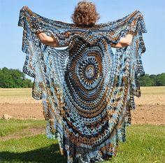Crochet Bohemian Vest Stevie Nicks style by Donna Cousin ~ groovy...