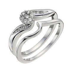 Argentium Silver 1/4 Carat Diamond Bridal Set- H. Samuel the Jeweller