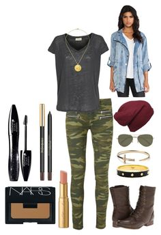 fall outfit 4 by annagoetzke on Polyvore featuring polyvore fashion style American Vintage Evil Twin Modström Madden Girl Anna Lou of London TOMS Satya Jewelry Vero Moda NARS Cosmetics Lancôme Too Faced Cosmetics women's clothing women's fashion women female woman misses juniors