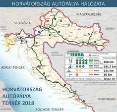Horvátországi autópályadíjak 2018: kalkulátor és autópálya térkép 2018 Map, Location Map, Maps