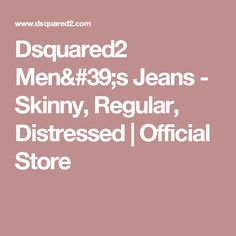 Dsquared2 Men's Jeans - Skinny, Regular, Distressed | Official Store