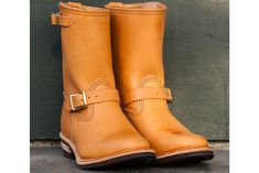 Wesco Van Cleef Veg Tan Engineer Boots. http://hddls.co/wesco-van-cleef