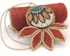 Fiore macrame linhasita  raku natura ispirazione di morenamacrame