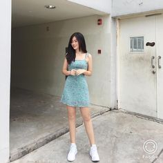 Ulzzang Fashion Summer, Korean Girl Fashion, Korean Street Fashion, Asian Fashion, Trendy Summer Outfits, Cute Spring Outfits, Stylish Outfits, Cute Outfits, Fashion Outfits