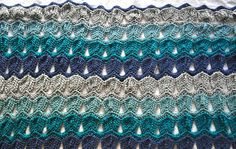 Vintage ripple fan stitch pattern