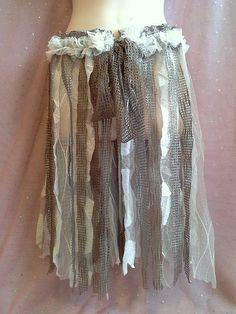 ADULT WOODLAND TUTU shabby tattered skirt pixie by SwirlnTwirlGirl