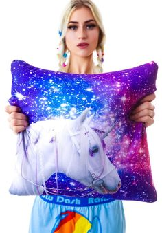Galaxy Unicorn Pillow by Beloved Shirts. Photo courtesy of DollsKill.com :)