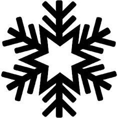 Simple Snowflake Silhouette Disegni per decorare c...