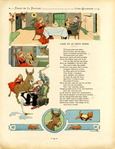 Benjamin Rabier, illustr. pour les fables de La Fontaine, 1906 Beatrix Potter, Benjamin Rabier, Les Fables, Peanuts Comics, Vintage World Maps, Comic Books, Movie Posters, Paris, Smallest Dog