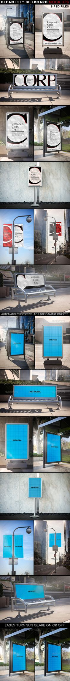 Clean City Advertising Billboard Mock-Ups Download here: https://graphicriver.net/item/clean-city-advertising-billboard-mockups/7070438?ref=KlitVogli