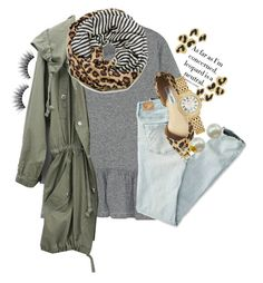 """""""as far as im concerned leopard is a neutral"""" by thefashionbyem ❤ liked on Polyvore featuring The Great, Tory Burch, American Eagle Outfitters, Steve Madden, Majorica, Michele, women's clothing, women, female and woman"""