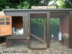 Creative ideas for the ideal rabbit home. Pictures of some great set ups for bunnies. No longer is a hutch enough.