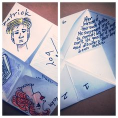 Fun book report idea using paper fortune tellers. Great end of year activity.