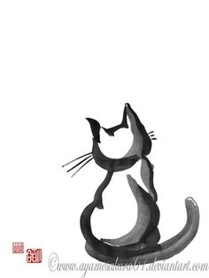 A cat sits until it is done sitting, and then gets up, stretches, and walks away. ~ Alan Watts ----- *SayuriMVRomei on deviantART