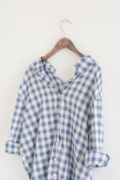 Summer check shirt, Blue