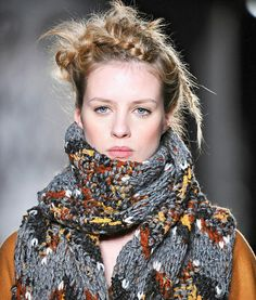 Fashion & Lifestyle: Eribe Knitted Scarves for Mulberry... Fall 2012 Womenswear