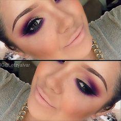 Gorgeous purple Smokey eye by the very talented @Aletza S. Trejo D'Alvarez / @wakeupandmakeup #webstagram