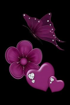 Shared by Ana Maria Texeira. Find images and videos about butterfly and wallpaper on We Heart It - the app to get lost in what you love. Flower Phone Wallpaper, Heart Wallpaper, Butterfly Wallpaper, Cellphone Wallpaper, Wallpaper Backgrounds, Iphone Wallpaper, Purple Butterfly, Butterfly Art, Whats Wallpaper