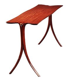 Afromosia Sofa Table Wood by David N. Ebner: Wood Console Table available at www.artfulhome.com