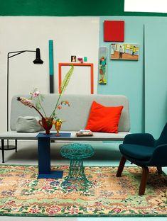 kleurrijke slaapkamer   colorfull bedroom   vtwonen 10-2016   photography: Tjitske van Leeuwen   styling: Marianne Luning
