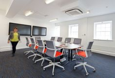 ORX   Boardroom and conference room. Video conference room. Corporate office design ideas.