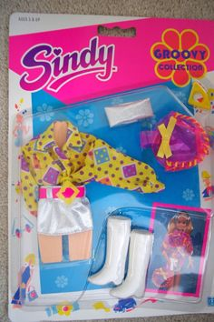 VINTAGE SINDY GROOVY COLLECTION 1991 HASBRO 8185 OUTFIT NRFB 14.95+3.5 listed