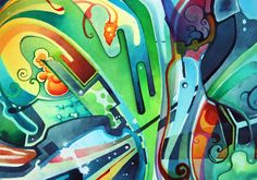 Abstract Watercolor Painting by Jeff Jagunich, via Behance