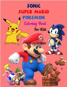 Sonic, Super Mario, Pokemon Coloring Book for Kids . . Great 3 Coloring Book Gift for Kids Boys, Girl, Toddler, Preschooler (Ages 3-6, 6-8, 8-12) Sonic, Super Mario, Pokemon Coloring Book is full of high-quality illustration in black and white. Amazing picture, This is a perfect gift for you and your friends, boys and girl. You can color your favorite character a wonderful gift for you, Buy now and enjoy! Amazon Coloring Books, Fishing Boats For Sale, Mario Birthday Party, Fishing For Beginners, Pokemon Coloring, Fish Drawings, Pokemon Birthday, 1st Birthday Outfits, Cricut