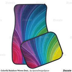 Colorful Rainbow Waves Design Car Mats Car Mat