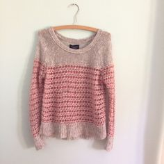 Wool blend Sweater In love with this sweater! From American eagle. Very good condition. Definitely would fit xsmall and small. If you have questions let me know! American Eagle Outfitters Sweaters Crew & Scoop Necks