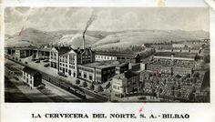Cervecería del Norte in Basurto, Bilbao. Demolished in 1.995.