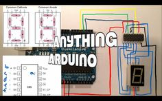 Using a 74HC595 to connect an Arduino to a 7-segment LED display (Anythi...