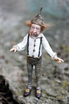 OOAK miniature artdoll 1:12th by Tatjana Raum dollhouse by chopoli