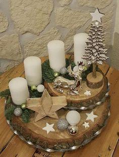 Christmas Advent Wreath, Handmade Christmas Decorations, Christmas Centerpieces, Diy Christmas Gifts, Rustic Christmas, Xmas Decorations, Christmas Projects, Simple Christmas, Christmas Holidays