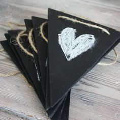 Chalkboard bunting- rustic chic from betteandbarb