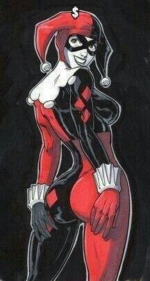Harley Quinn Drawing, Joker And Harley Quinn, Dc Comics Art, Comics Girls, Marvel Dc Comics, Comic Book Girl, Comic Books Art, Comic Art, Batgirl
