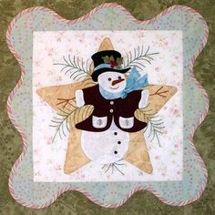 click here to view larger image of Anita's Christmas Quilt -  Block 1   (PATTERNS)