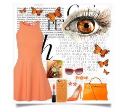 """Orange flames"" by sprinkleofenchantment ❤ liked on Polyvore featuring Whiteley, Hermès, Casetify, Elizabeth and James, Manolo Blahnik, MAC Cosmetics, Matthew Williamson, Liz Claiborne, women's clothing and women's fashion"
