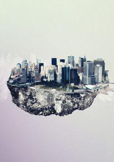 """Islands"" by Reinhard Krug – New York, Sydney, HongKong, Berlin (+more) illustrated as Islands > Design und so, Film-/ Fotokunst, Illustrationen, Netzkram, Streetstyle > berlin, cities, hong kong, islands, metropolises, sydney"