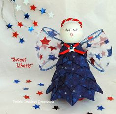 Patriotic Angel Quilted Ornament Kit with by MyPrairieCreations